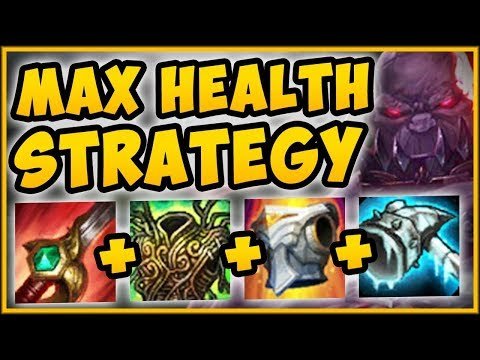 MAX HEALTH STRATEGY ON SION = OVER 16000 HP??? MAX HEALTH SION SEASON 9 GAMEPLAY League of Legends