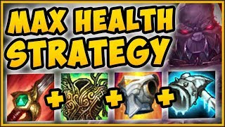 MAX HEALTH STRATEGY ON SION = OVER 16000 HP??? MAX HEALTH SION SEASON 9 GAMEPLAY! League of Legends