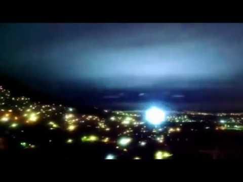 Luces de Terremoto del 7 de septiembre 2017 en México desde la Sierra de Guadalupe