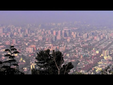 Cable car ride to San Cristóbal Hill, Santiago, Chile