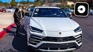 Picking up Uber Riders in my Lamborghini Urus! **crazy reactions**