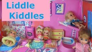 Vintage Liddle Kiddles Dolls and Klub doll house.  Mattel 1966 - 1971