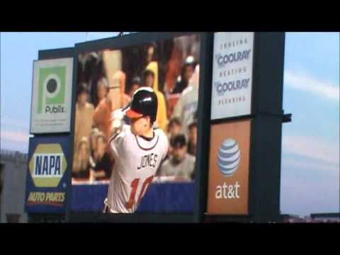 Chipper Jones Atlanta Braves Tribute Ceremony Part 1