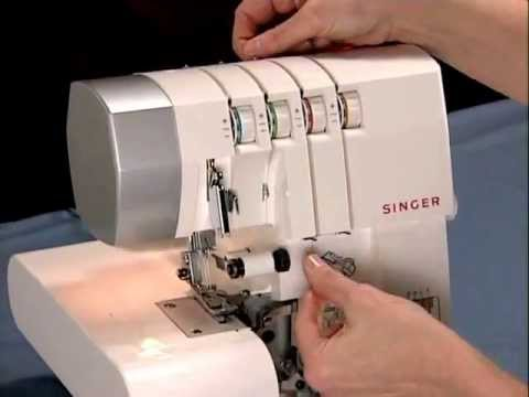 Singer's How To Thread The Singer 40 Thread Sergers Video YouTube New Singer 14sh654 Finishing Touch Serger Sewing Machine