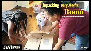 Unpacking Niyah's Room | Family Vlogs | JaVlogs