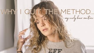 I QUIT THE CURLY GIRL METHOD and here's why | Curly Hair Routine // Mallory1712