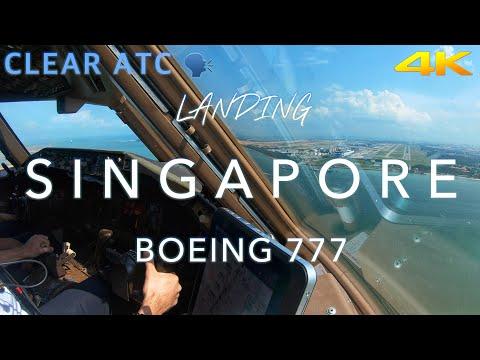 Landing Singapore | B777 CockpitView 4K