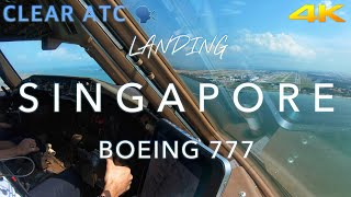 Landing Singapore | B777 CockpitView 4K