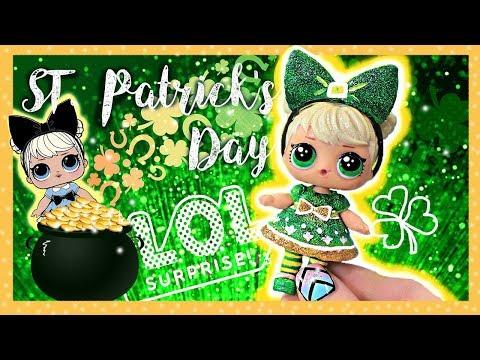 LOL ST. Patrick's Day CUSTOM 🍀 L.O.L Surprise doll Custom Tutorial / DIY 🍀 Curious Q.T