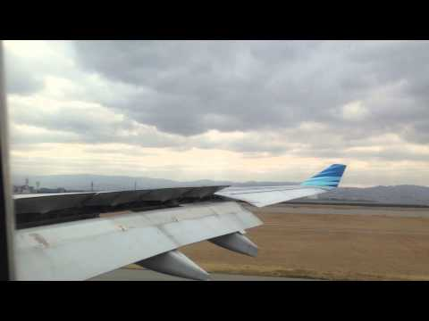 Landing at Kansai Internatioan Airport Osaka from Jakarta by Garuda Indonesia