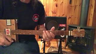 Summertime Blues Eddie Cochran Rockabilly The Who lesson for 3 string Cigar Box Guitar