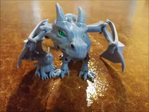 Braq, the 3D printed dragon