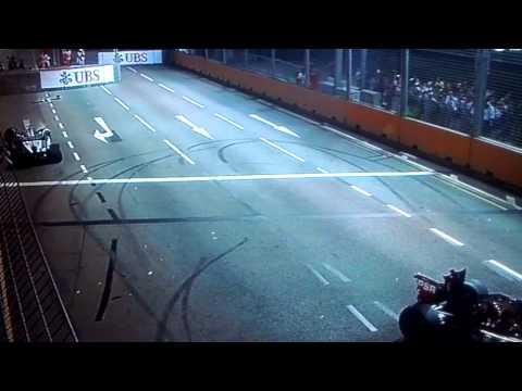 Michael Schumacher accident @ Singapore GP