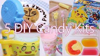 5 DIY Japanese Kawaii Candies【Doraemon,Pokémon,and New Neruneru 】