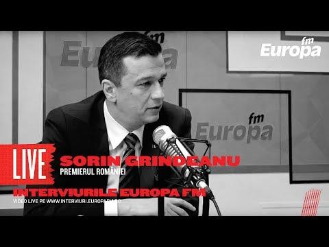 Premierul Sorin Grindeanu la Interviurile Europa FM