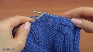 Вязание шапочки Урок 31 часть 3 из 3 Вязание спицами