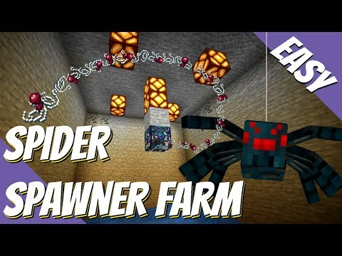 How To Make A Spider Farm In Minecraft: Easy Minecraft Spider Spawner Farm With On/Off (Avomance)