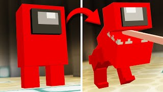 DEFEATING Secret Among Us forms in Minecraft!