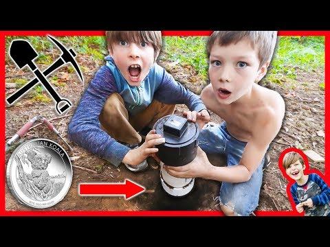 WE BURIED OUR ABANDONED SAFE TREASURE in a TOP SECRET TIME CAPSULE + New Mystery  Clues!