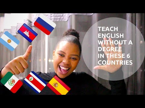 No Degree?   You can teach English in these 6 countries
