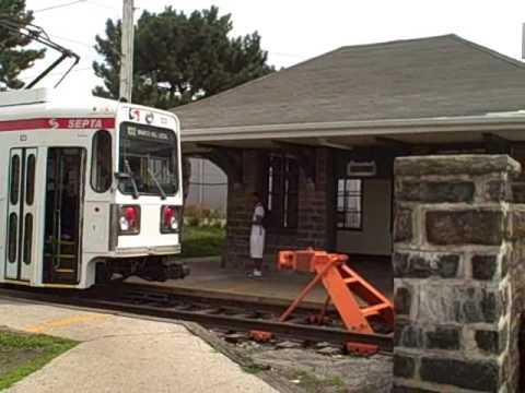 Sharon Hill PA Station SEPTA 102 Trolley Line