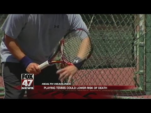 Playing tennis could lower risk of death