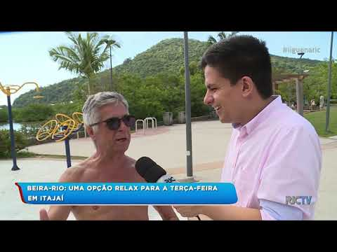 Beira-rio: Uma opção para relaxar em Itajaí