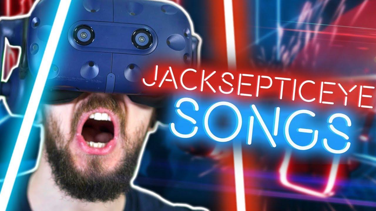 Download Playing Custom Jacksepticeye Songs in Beat Saber VR