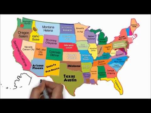 The 50 States and Capitals Song | Silly School Songs