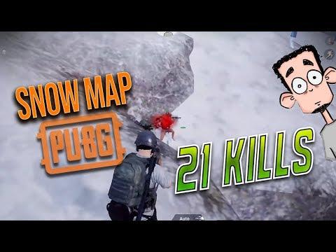 SNOW MAP VIKENDI  21 KILLS  POWER OF AUG  PUBG MOBILE HIGHLIGHTS