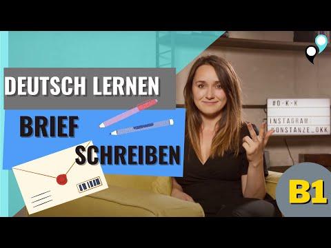Deutsch Lernen: B1 Brief Schreiben
