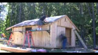 12x20 Shed Built By Ponderosa Pines ~ Watch Us Build It In Under 3 Min!!