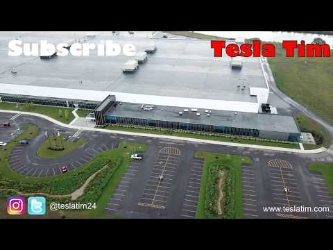 Tesla Giga Factory 2 Aerial Fly Over
