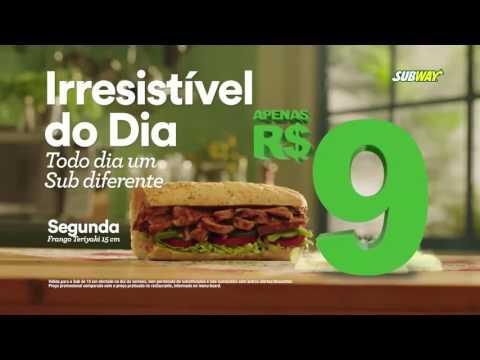 Promoção SUBWAY Irresistível do Dia R$ 9,00