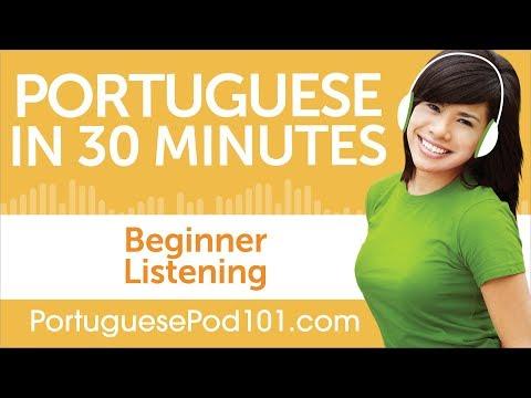 30 Minutes of Portuguese Listening Comprehension for Beginner