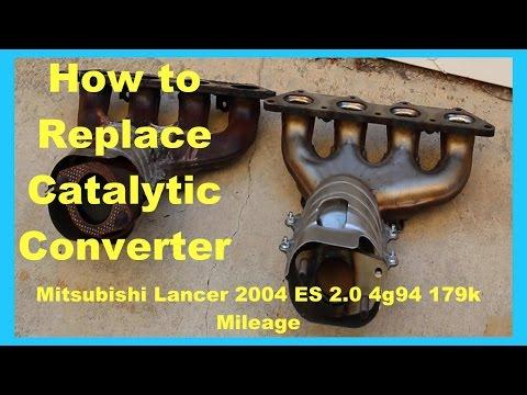 Mitsubishi Lancer Fix: Catalytic Converter Replacement P0421 Smog fail fix