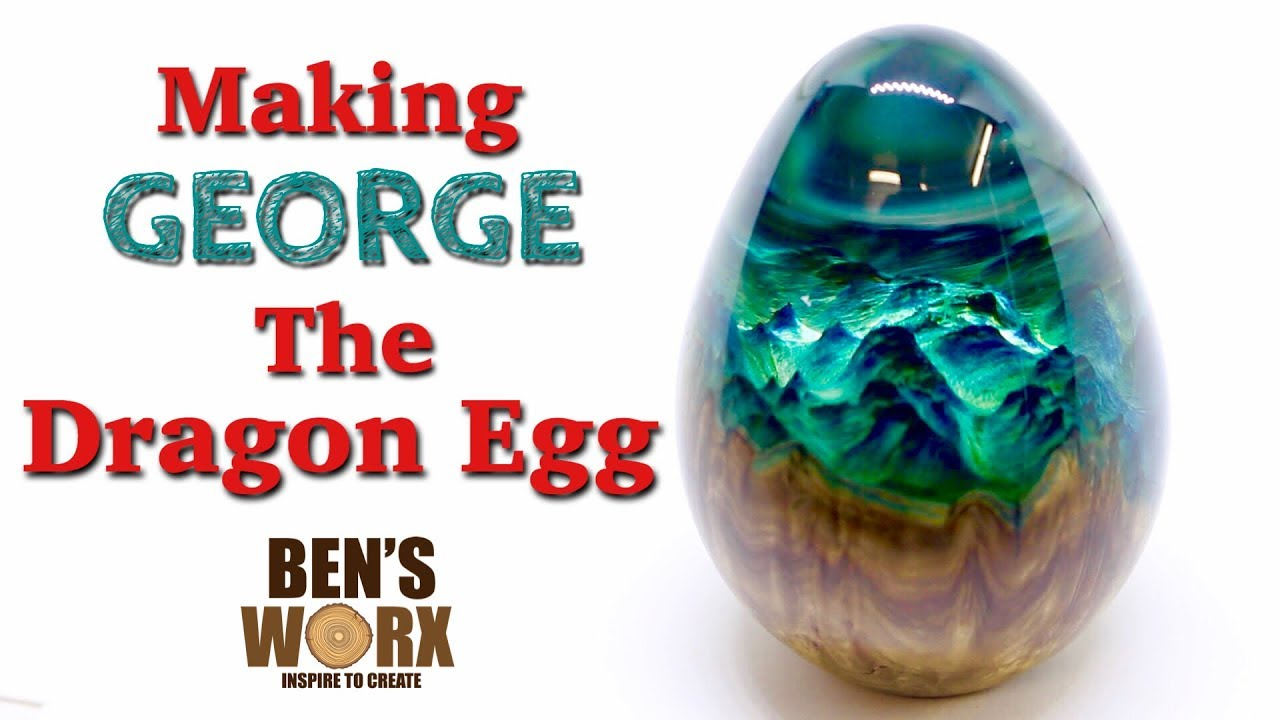 Turning Wood And Epoxy Resin Into A Hybrid Dragon Egg