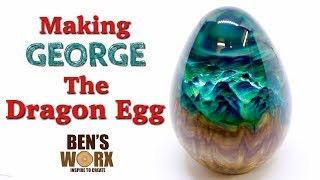 Wood and resin Dragon Egg by Bens Worx