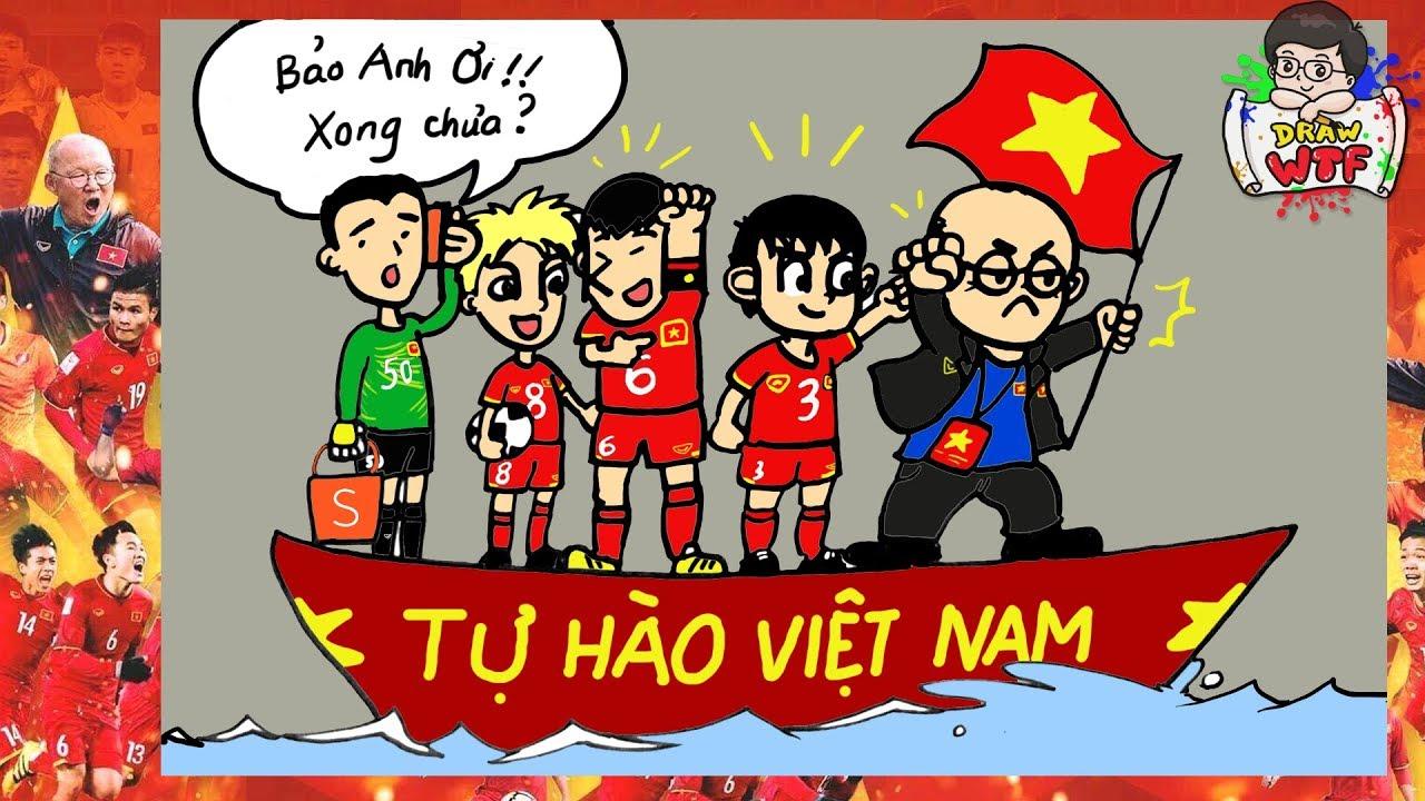 Vẽ Park Hang-seo, người đã đưa bóng đá Việt Nam ra biển lớn! Tự hào Việt Nam – Draw WTF