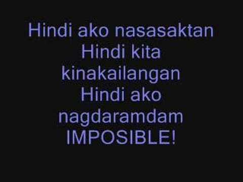 Imposible - KC Concepcion (with lyrics)