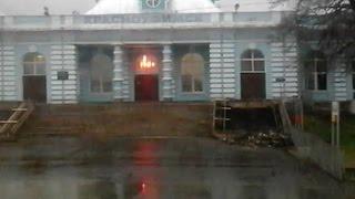 Красноуфимск отправление поезда вид из окна река вышла из берегов