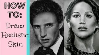 How to draw smooth & realistic skin using charcoal or graphite