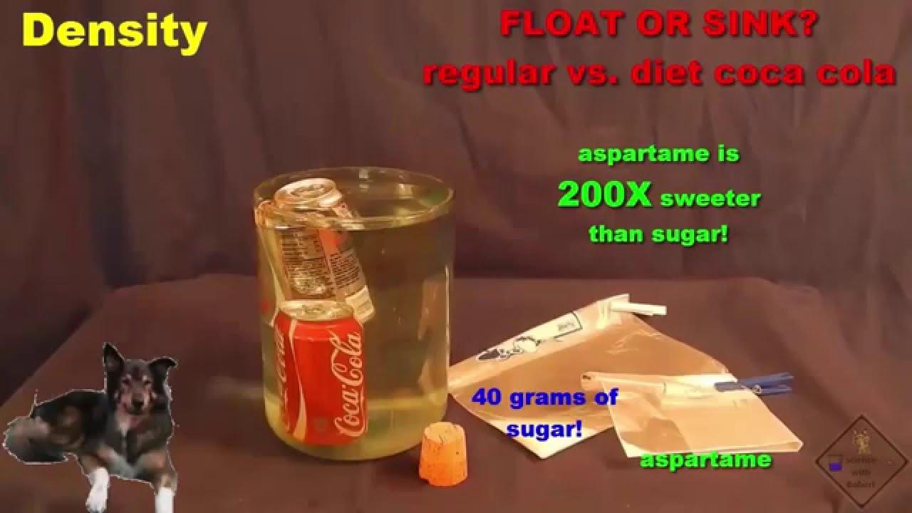 density of diet coke