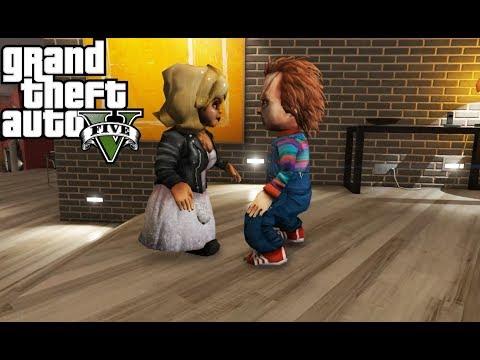 Chucky VS Tiffany - Dolls Fight (GTA 5)
