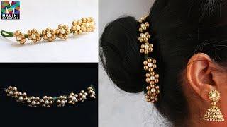 Pearls hair accessory / quick easy hair accessories/ Diy hair brooch