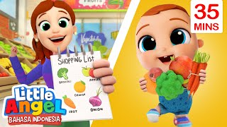 Belanja Buah dan Sayur di Pasar Swalayan 🍎Kartun Anak | Little Angel Bahasa Indonesia