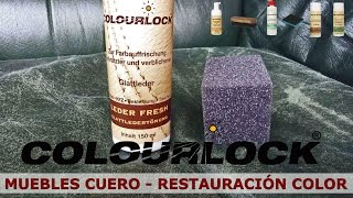 muebles de cuero y piel - restauración de color - www.cueroliquido.com
