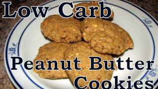 Atkins Diet Recipes:  Low Carb Peanut Butter Cookies