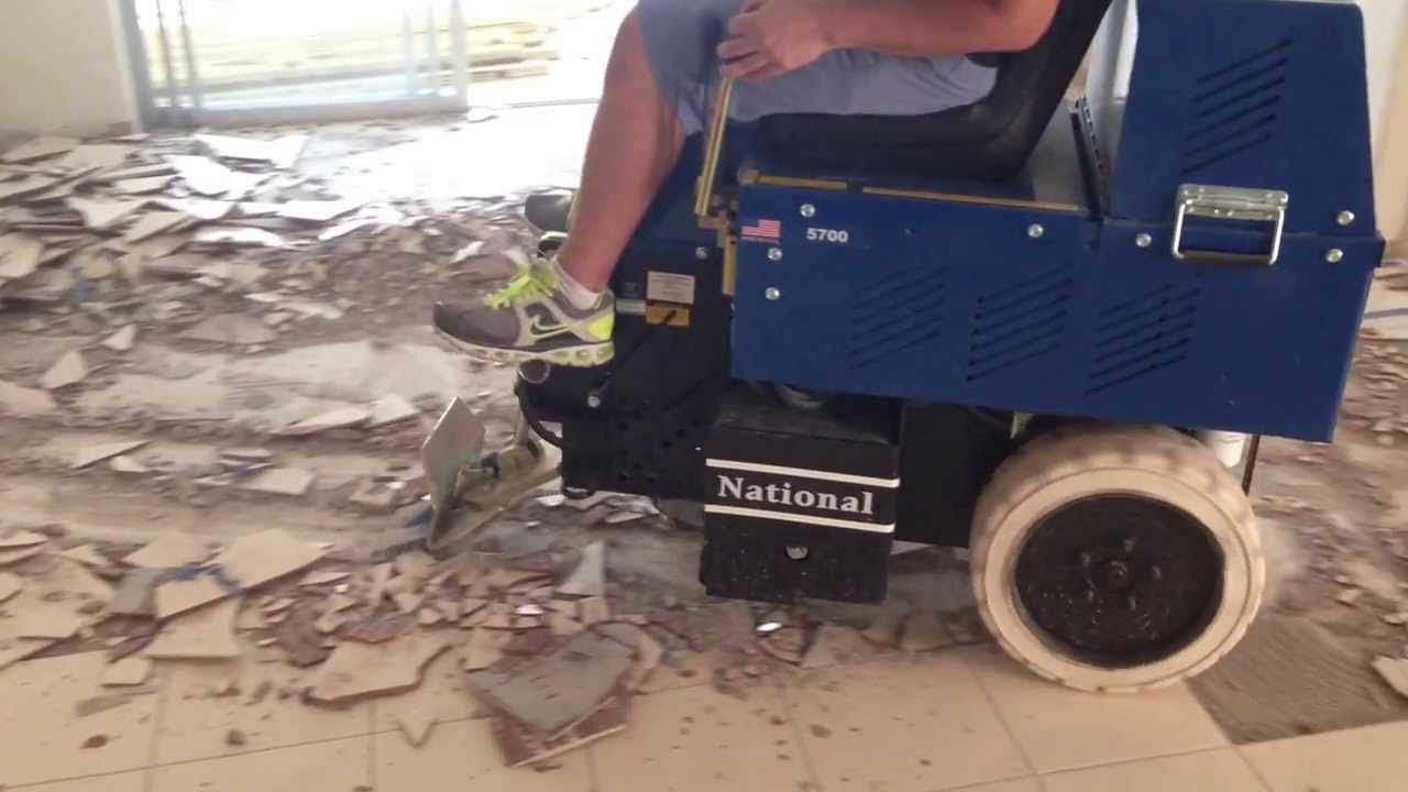 L2 Floor Care Inc Tile Removal Machine Youtube