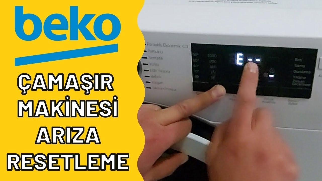 Arçelik Beko çamaşır makinesi resetleme